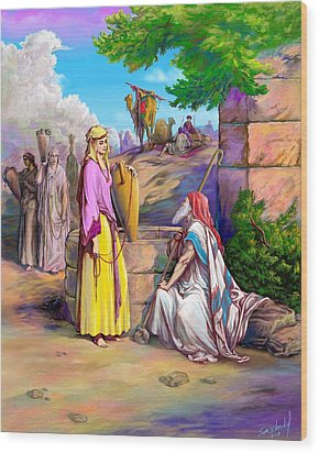 Eliezer N Rebekah Wood Print by Sam Shacked