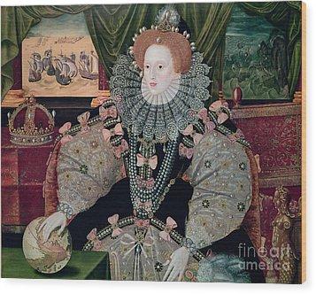 Elizabeth I Armada Portrait Wood Print by George Gower