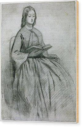 Elizabeth Siddall In A Chair Wood Print by Gabriel Rossetti