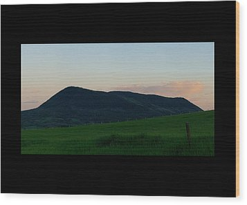 Wood Print featuring the photograph Elk Mountain Meadow Sunset by Daniel Hebard
