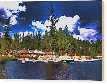 Elkins Resort Wood Print by David Patterson