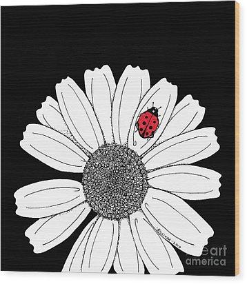 Ella's Daisy Wood Print