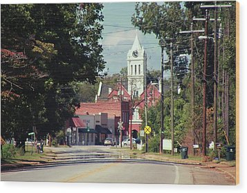 Wood Print featuring the photograph Ellaville, Ga - 2 by Jerry Battle
