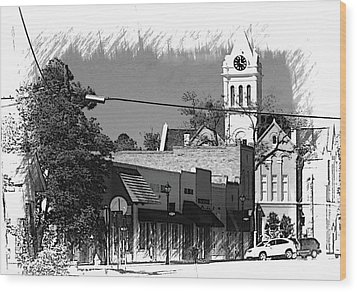 Wood Print featuring the photograph Ellaville, Ga - 3 by Jerry Battle