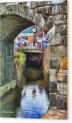 Ellicott City Bridge Arch Wood Print by Stephen Younts