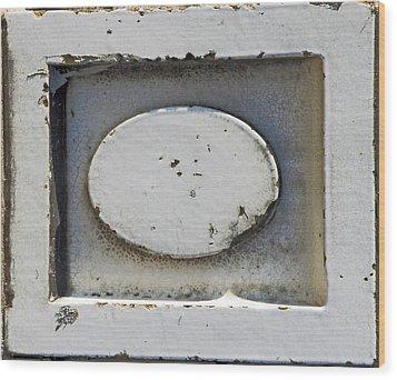Ellipse In Relief Wood Print by Albert Stewart