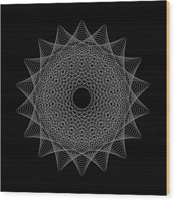 Elliptical Mesh IIik Wood Print by Robert Krawczyk