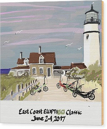 Elliptigo Art Wood Print
