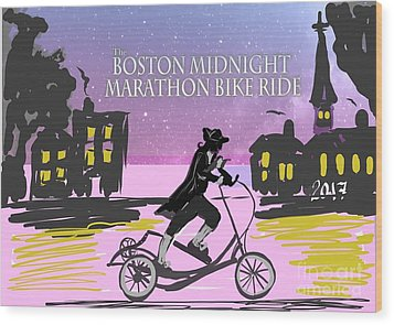 elliptigo meets the Midnight Ride Wood Print