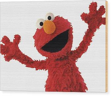 Elmo Wood Print