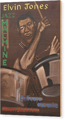 Elvin Jones Jazz Machine Wood Print