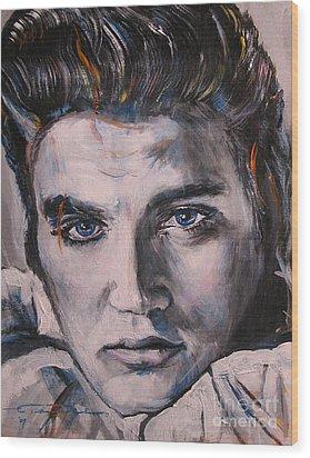 Elvis 2 Wood Print by Eric Dee