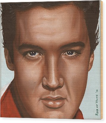 Elvis 24 1958 Wood Print by Rob De Vries