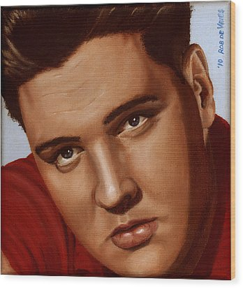 Elvis 24 1959 Wood Print by Rob De Vries