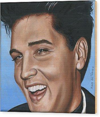 Elvis 24 1960 Wood Print by Rob De Vries