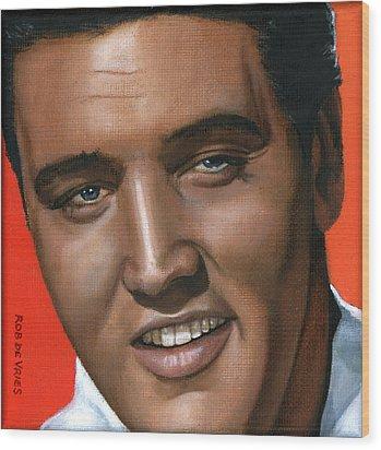 Elvis 24 1961 Wood Print by Rob De Vries