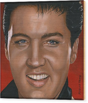 Elvis 24 1964 Wood Print by Rob De Vries