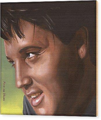 Elvis 24 1966 Wood Print by Rob De Vries