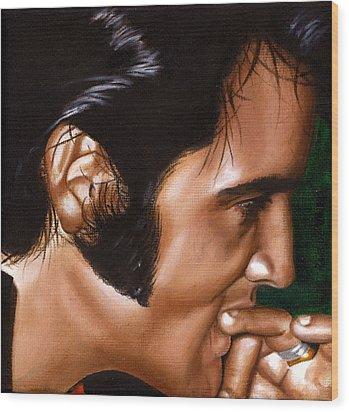 Elvis 24 1969 Wood Print by Rob De Vries