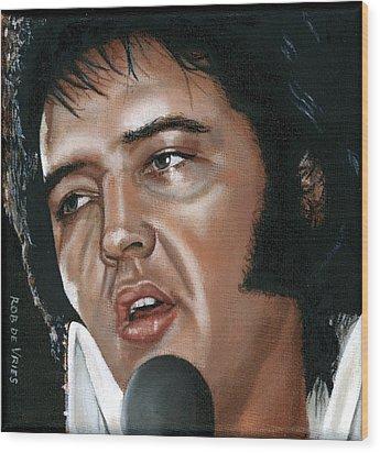 Elvis 24 1975 Wood Print by Rob De Vries