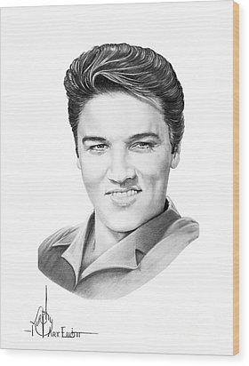 Elvis Aaron Presley Wood Print by Murphy Elliott