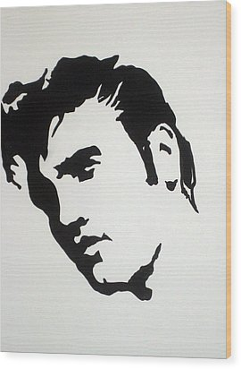 Wood Print featuring the drawing Elvis Before Time by Robert Margetts