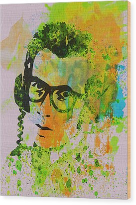 Elvis Costello Wood Print by Naxart Studio