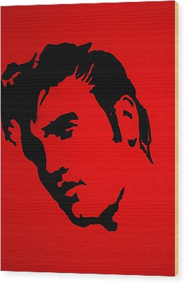elvis on the set of True Blood Wood Print by Robert Margetts