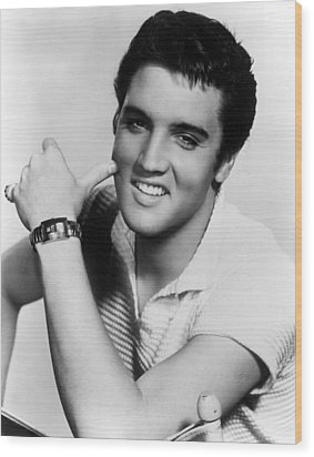 Elvis Presley, Ca. 1950s Wood Print by Everett