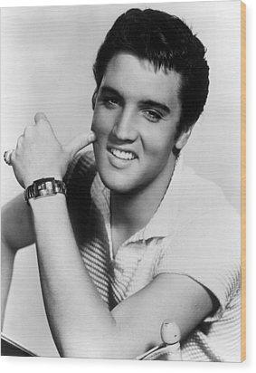Elvis Presley, Ca. 1950s Wood Print by Everett