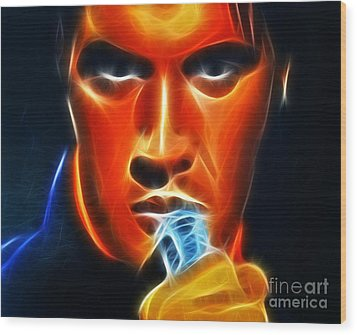 Elvis Presley Wood Print by Pamela Johnson