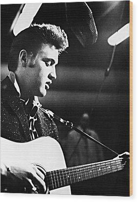 Elvis Presley, Recording In The Studio Wood Print by Everett
