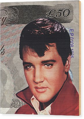 Elvis Presley Wood Print by Unknown