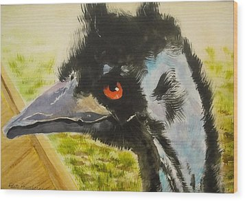 Elvis The Emu Wood Print