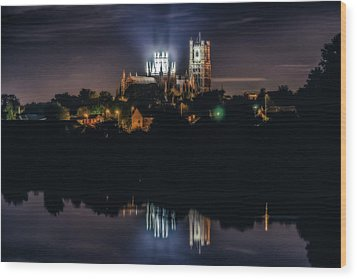 Ely Cathedral By Night Wood Print
