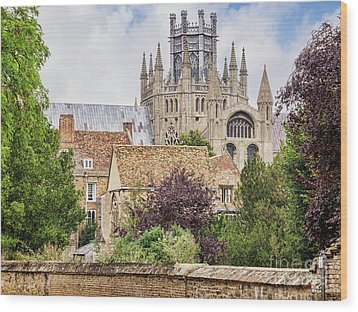 Wood Print featuring the photograph Ely Cathedral, England by Colin and Linda McKie