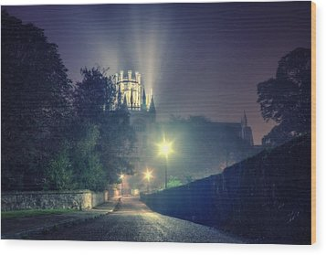 Ely Cathedral - Night Wood Print