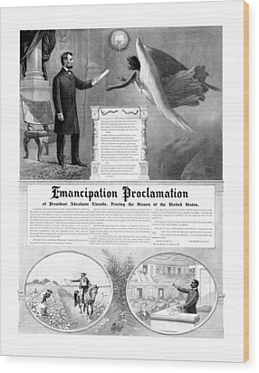 Emancipation Proclamation Wood Print by War Is Hell Store