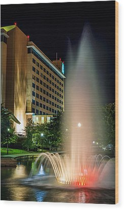 Wood Print featuring the photograph Embassy Suites Huntsville by David Morefield