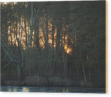 Embers Of The Waking Sun Wood Print