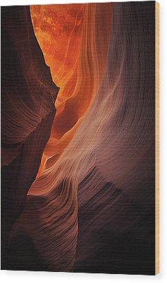 Embers Wood Print