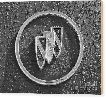 Wood Print featuring the photograph Emblem Mono by Dennis Hedberg