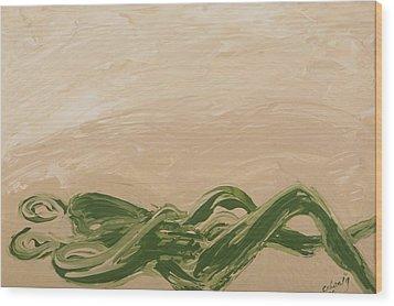 Embrace Wood Print by Celesty  Claudio