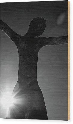 Embrace Wood Print by Lisa Knechtel