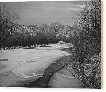 Wood Print featuring the photograph Embudo In Winter by Atom Crawford