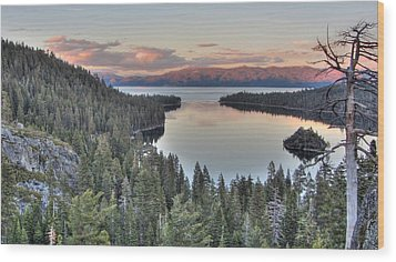 Emerald Bay Colors Wood Print by Brad Scott