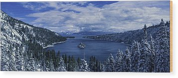 Emerald Bay First Snow Wood Print by Brad Scott