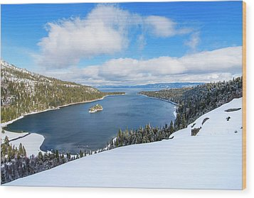 Wood Print featuring the photograph Emerald Bay Slopes by Brad Scott