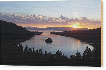 Emerald Bay Sunrise Wood Print