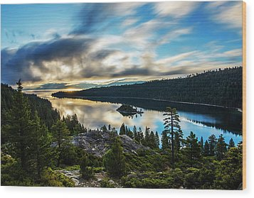 Wood Print featuring the photograph Emerald Bay Sunrise Lake Tahoe by Brad Scott